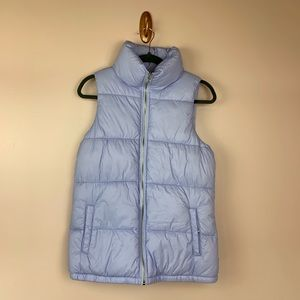 Old Navy Frost Free Puffer Vest Purple Small Tall